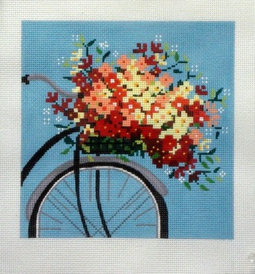 Bicycle on Blue    (Handpainted by Alice Peterson Company)