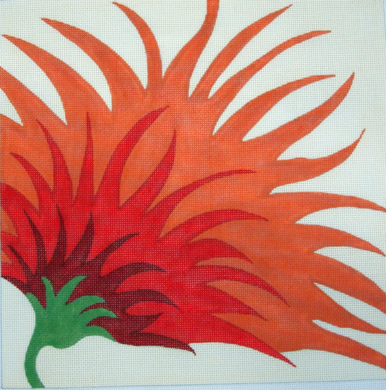 Single Zinnia (Handpainted by Machelle Somerville)