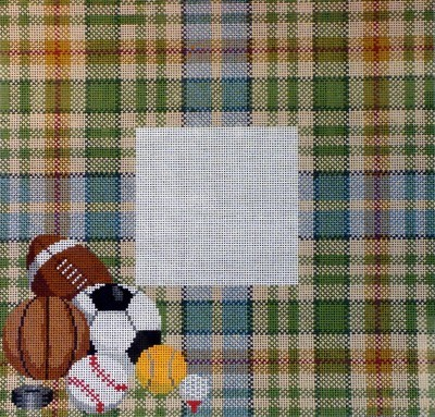 Argyle with Sports Picture Frame     (handpainted by Meredith Collection)