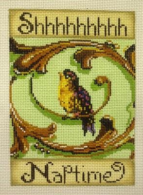 Shhh Naptime,  Sweet Bird Sign   (Handpainted by Patti Mann)