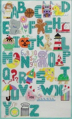 Turquoise Alphabet  (Handpainted by Alice Peterson Company)
