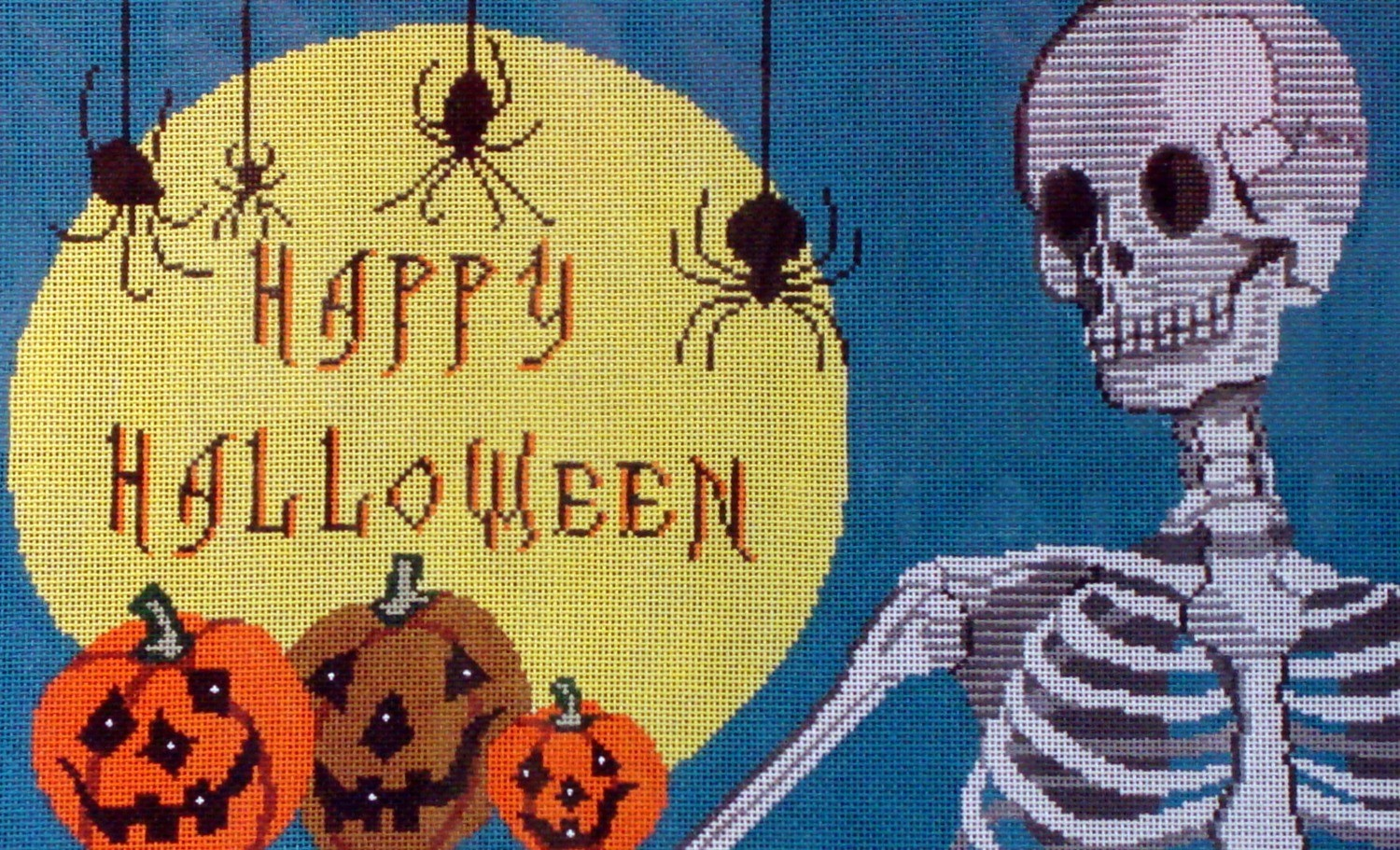 Happy Halloween Skeleton   (Handpainted by Shelly Tribbey Designs)