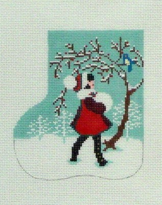 Christmas Friends Mini Sock (Handpainted by Shelly Tribbey Designs)