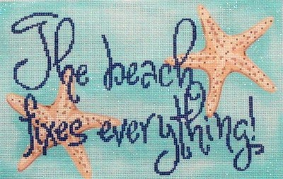The Beach Fixes Everything (Handpainted  by Associated Talents)