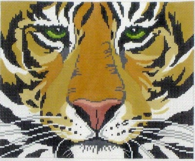 Tiger Face     (Hand Painted by Lee Designs)