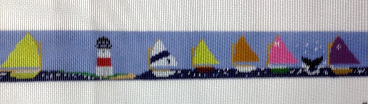 Sailboat Race Belt (Handpainted by Itz A Stitch)