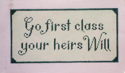 Go First Class  (Handpainted byNeedlepoint Alley)