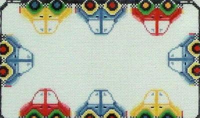 Cars, Name Sampler  (Handpainted by Needledeeva)