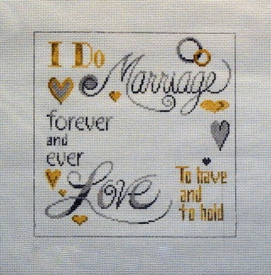 Marriage Pillow (Handpainted by Patti Mann)