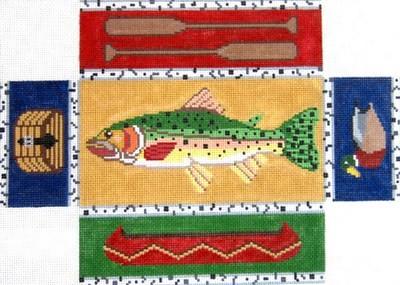 Fishing Brick Cover  (Handpainted by Silver Needle)