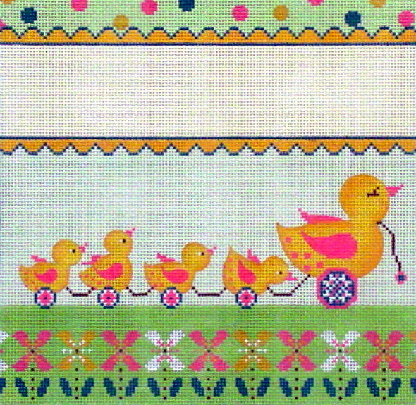 Duckies Birth Announcement  (Handpainted by Alice Peterson Company)