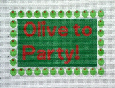 Olive to Party (Handpainted by The Point Of It All Designs)