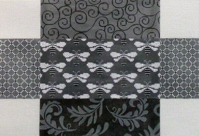 Grey Patch with Bees Brick Cover     (handpainted JP Designs)