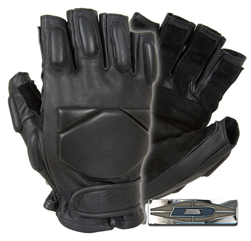 Responder™ - Leather gloves with reinforced palms (1/2 Finger)