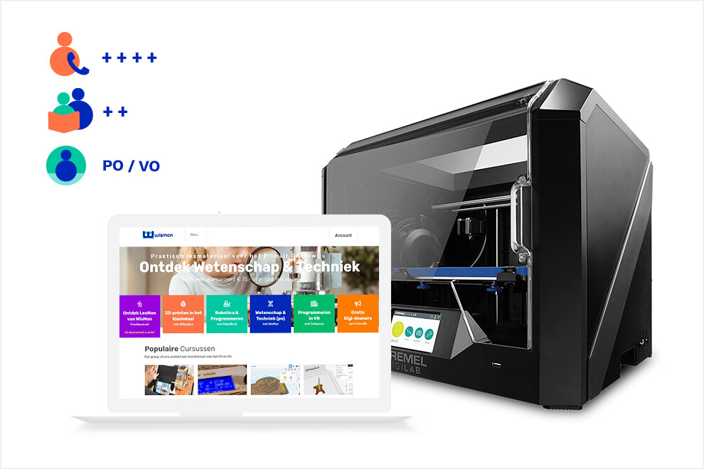 3Dkanjers 3D-Discovery Basic - inclusief Dremel 3D45 3D-printer (PO, VO)