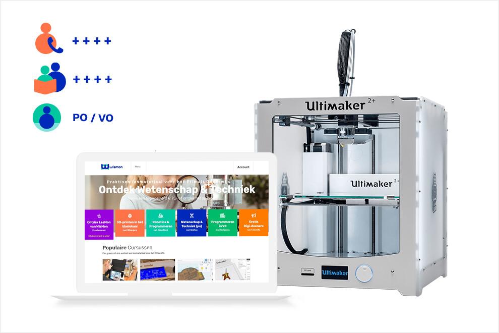 3Dkanjers 3D-Discovery Uitgebreid - inclusief Ultimaker 2+ 3D-printer (VO)