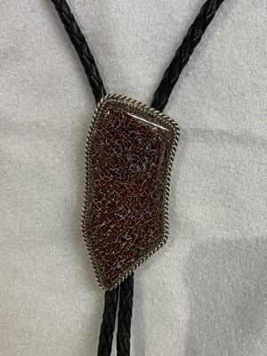 Beautiful Silver cell gem bone bola