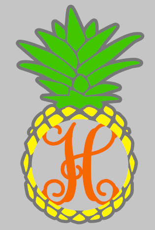Pineapple with Single Initial