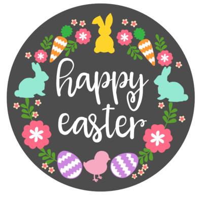 Round Happy Easter