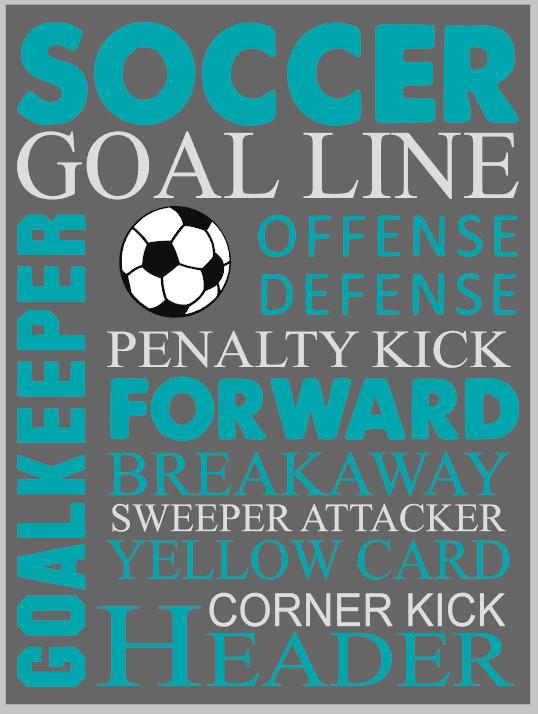 Soccer Word Art