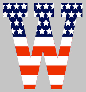 Stars and Stripes Letter
