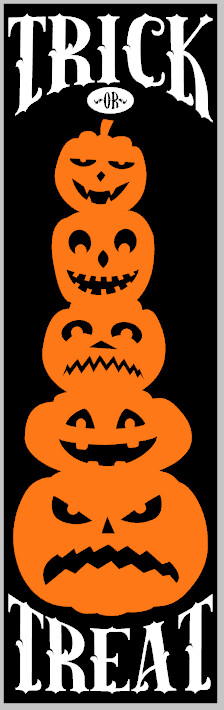 Trick or Treat Stacked Pumpkins