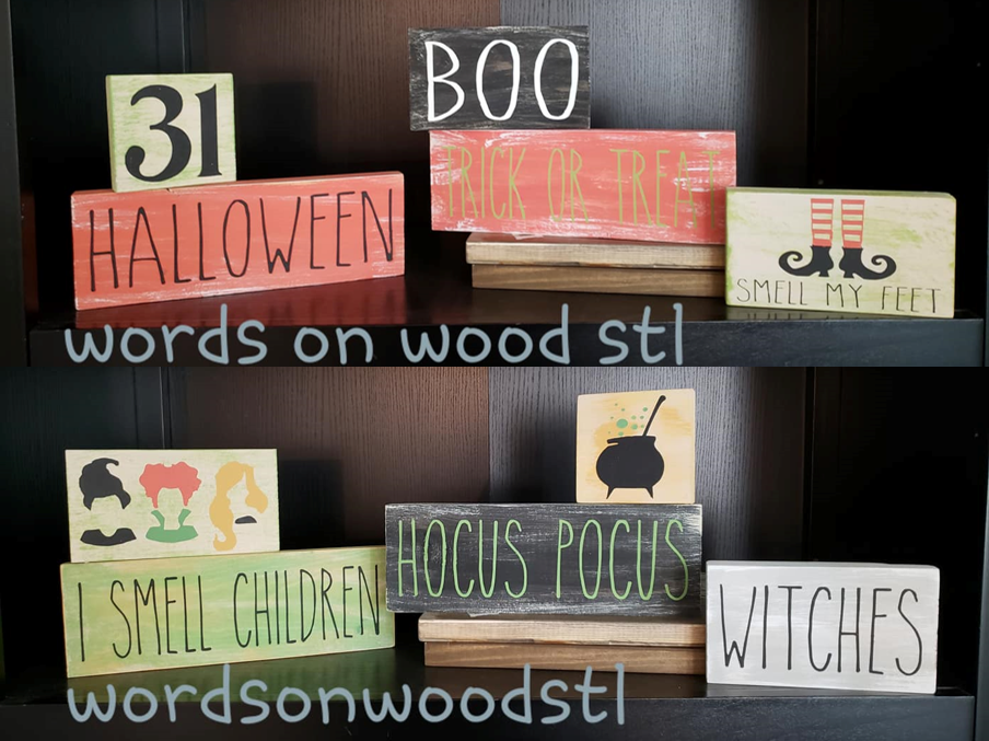 Halloween 5 piece Block Set