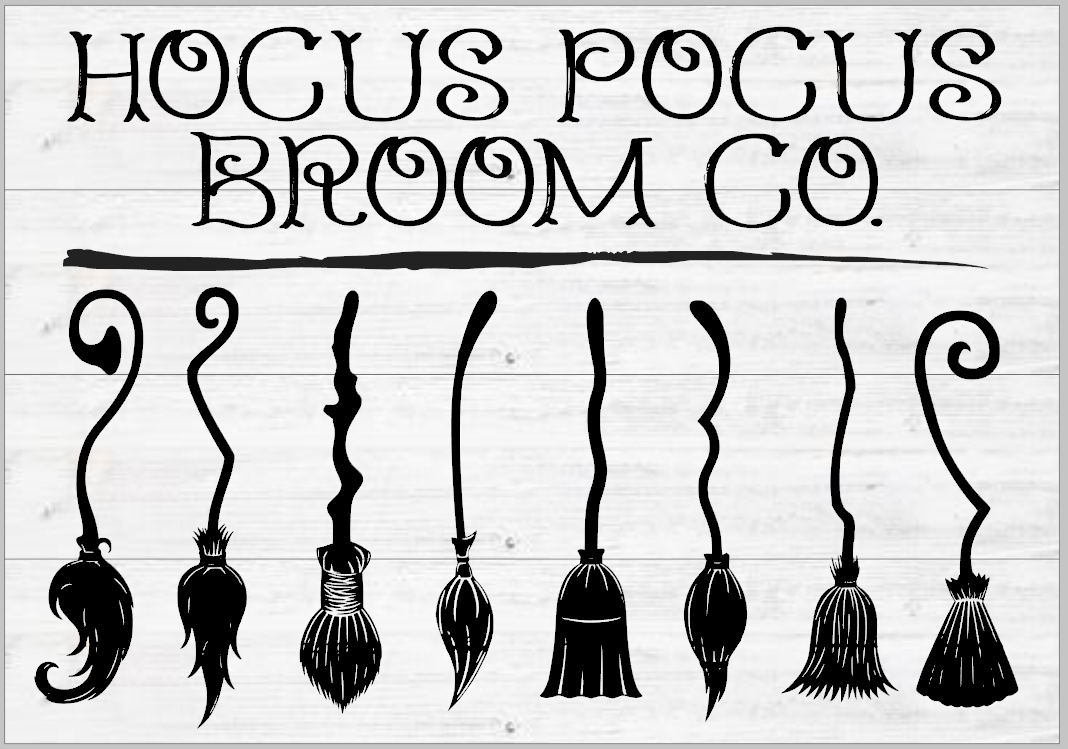 Hocus Pocus Broom Co with 3D Brooms