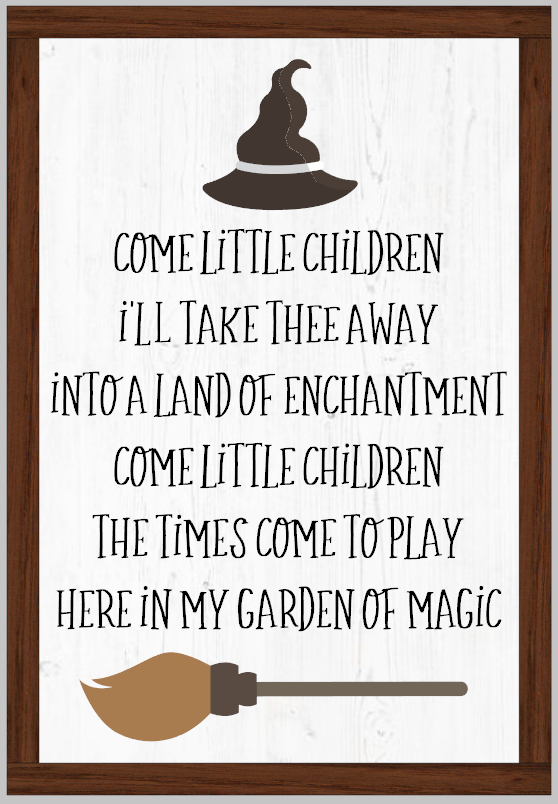 Come Little Children Framed Sign Hocus Pocus