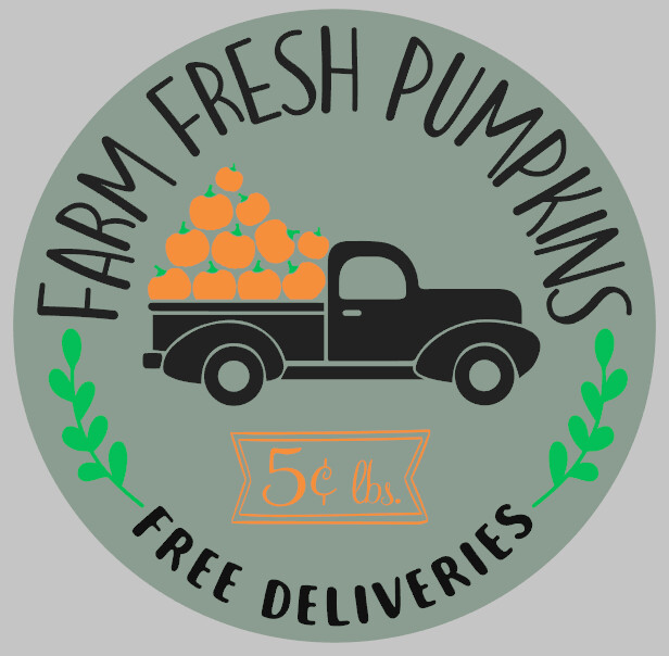 Farm Fresh Pumpkins Round with 3D Option