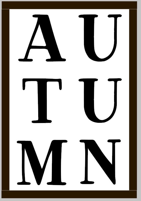 Autumn Subway Word (framed)
