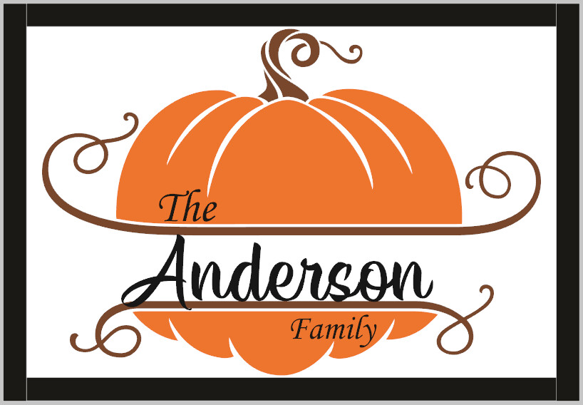 Pumpkin Personalized Family (framed)