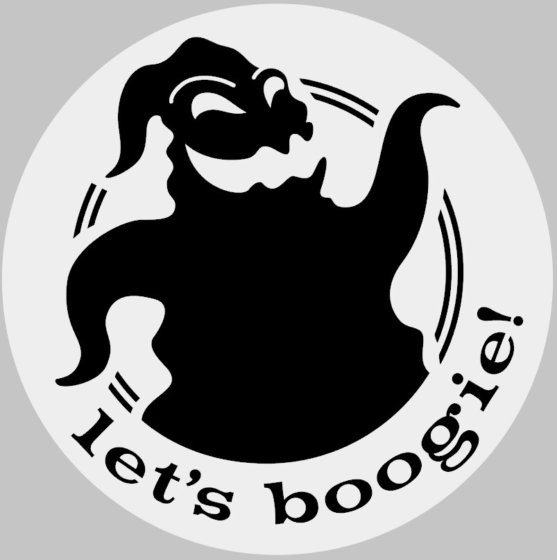 Let's Boogie Nightmare before Christmas Round Wood Sign