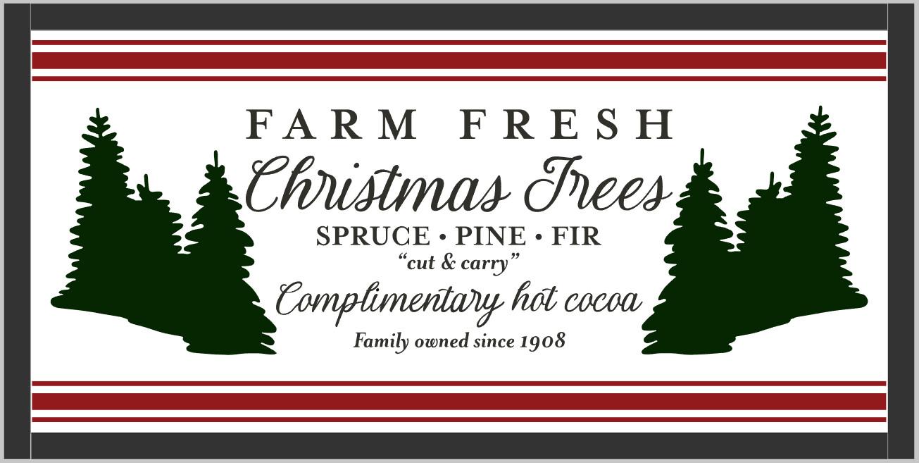 Farm Fresh Christmas Trees (framed)