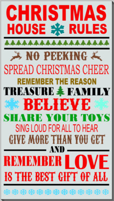 Christmas House Rules