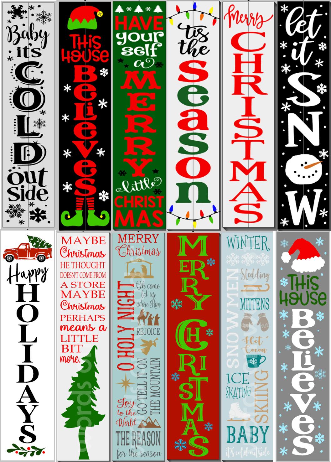 Christmas / Winter Porch Signs