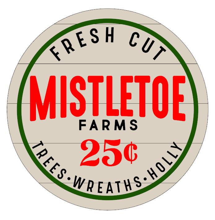 Round Mistletoe Farms with Shiplap look