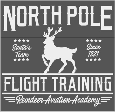 North Pole Flight Training Reindeer Aviation Academy