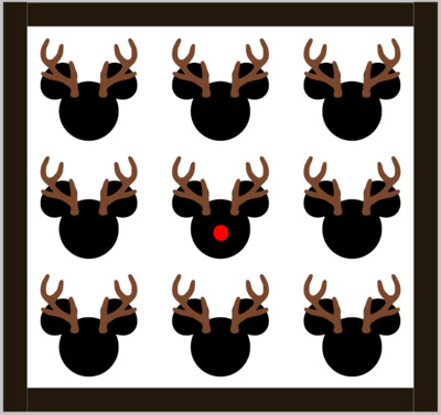 Reindeer Mickey's with 3D Antlers and Nose
