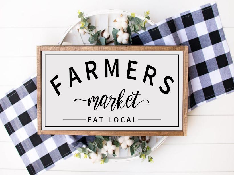 Farmers Market - Eat Local (framed)