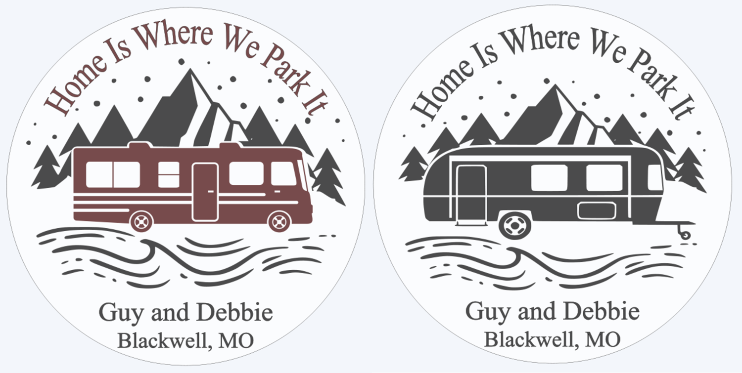 Home is Where We Park it Motor home or Camper Round