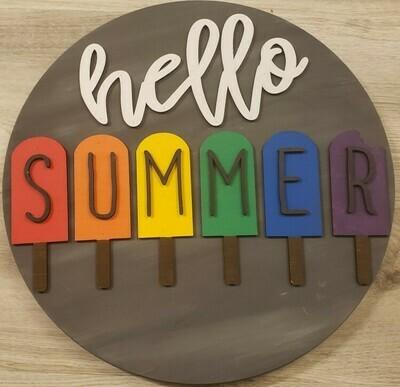 Hello Summer Popsicle 3D 18