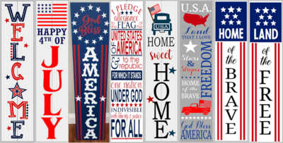 Patriotic Porch Sign