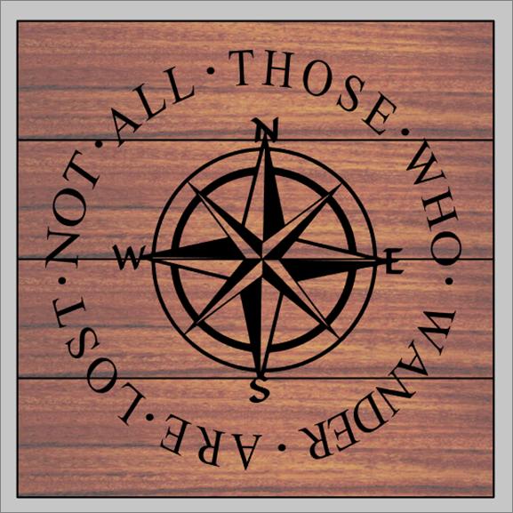 Those Who Wander Compass