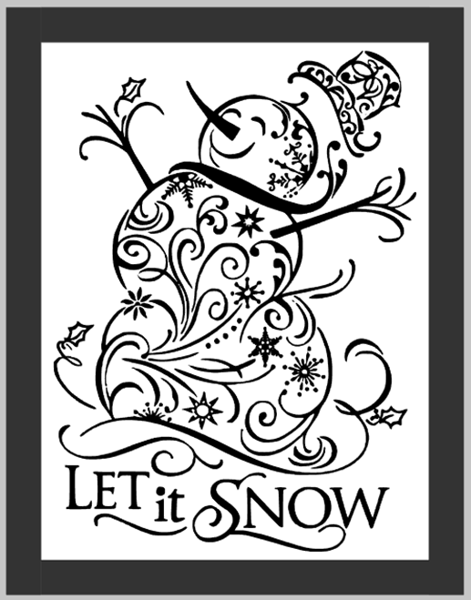 Let it Snow Framed Snowman