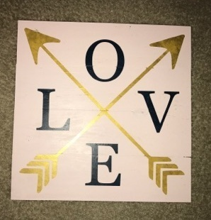 LOVE with arrows