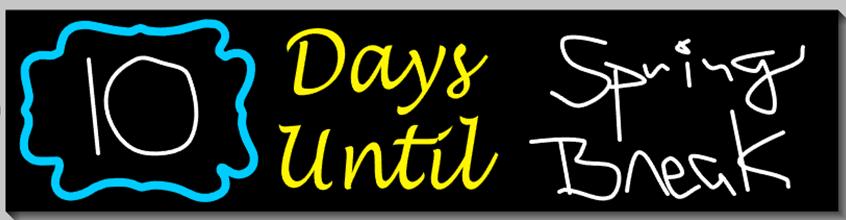 Days Until Chalkboard Countdown