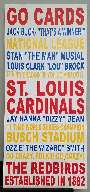 Cardinals Word Art