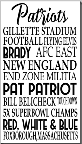 Patriots Word Art