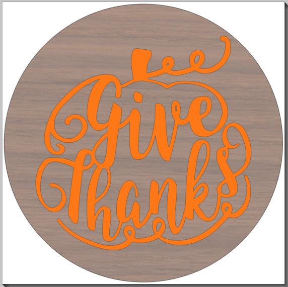 Give Thanks Pumpkin Round